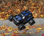 LaTrax Teton 1/18 Scale 4WD Monster Truck down the curb