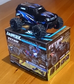 LaTrax Teton 1/18 Scale 4WD Monster Truck on the box